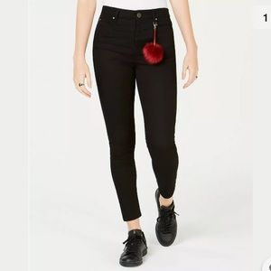 Tinseltown high rise black skinny jeans NWT